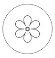 flower icon black color in circle vector image vector image