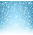Flying snowflakes on blue background vector image