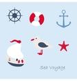 Funny sailing ship vector image vector image