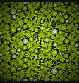 green floral pattern background vector image