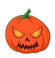 halloween pumpkins funny faces autumn vector image vector image