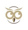 head owl logo design symbol knowledge vector image vector image