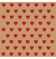 heart polka dots vector image vector image