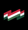 hungary flag isolated hungarian ribbon banner vector image