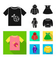 isolated object of fashion and garment icon vector image