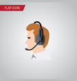 isolated online support flat icon telemarketing vector image vector image