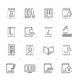 line book library and education icons vector image vector image