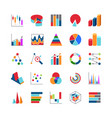 market trends business data charts icons stats vector image vector image