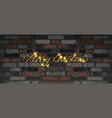 merry christmas golden lettering vector image