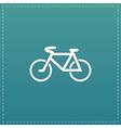 Mountain bike flat icon vector image vector image