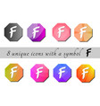 multicolored buttons with symbol color buttons vector image vector image