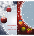 new year card with christmas decor vector image vector image