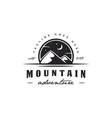night mountain adventure logo vector image