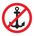 no anchor sign vector image