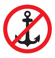 no anchor sign vector image vector image