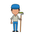 painter worker avatar vector image