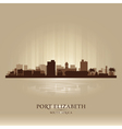 Port Elizabeth South Africa city skyline silhouet vector image vector image