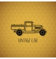 Retro pickup truck car vintage outline style vector image
