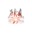 rock and roll dance music party retro concept vector image vector image