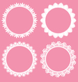 round decorative lace borders frames vector image vector image