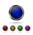 set modern glass buttons vector image vector image