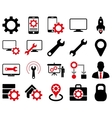 Settings and Tools Icons vector image vector image