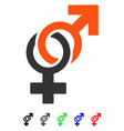 sexual symbols flat icon vector image vector image