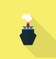 ship icon set of great flat icons with style vector image vector image
