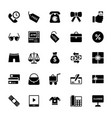 shopping and commerce glyph icons 4 vector image vector image