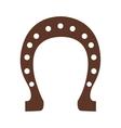 Silhouette color brown horseshoe closeup vector image