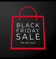 simple bag black friday vector image