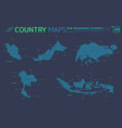 singapore malaysia indonesia and thailand vector image