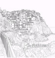 sketch italian liguria vector image vector image