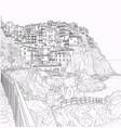 sketch of italian liguria vector image vector image