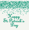 st patricks day card eps10 vector image vector image