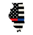 state illinois police and firefighter support vector image