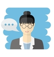 Teacher or business woman avatar vector image vector image