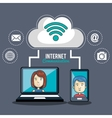 technology internet communication person web vector image