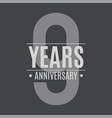 template logo 9 years anniversary vector image vector image