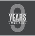 template logo 9 years anniversary vector image
