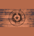 texas state seal brand vector image vector image