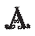 The vintage style letter A vector image vector image
