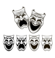 Tragedy and comedy theater masks vector | Price: 1 Credit (USD $1)