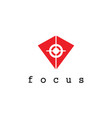 triangle focus logo vector image