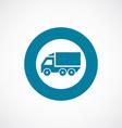 truck icon bold blue circle border vector image vector image