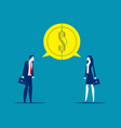 two business having a successful communication vector image vector image