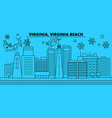 united states virginia beach winter holidays vector image vector image