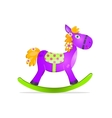 violet rocking horse toy vector image vector image