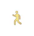 walk computer symbol vector image vector image