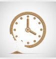 watch dial is made sand clock is crumble vector image vector image